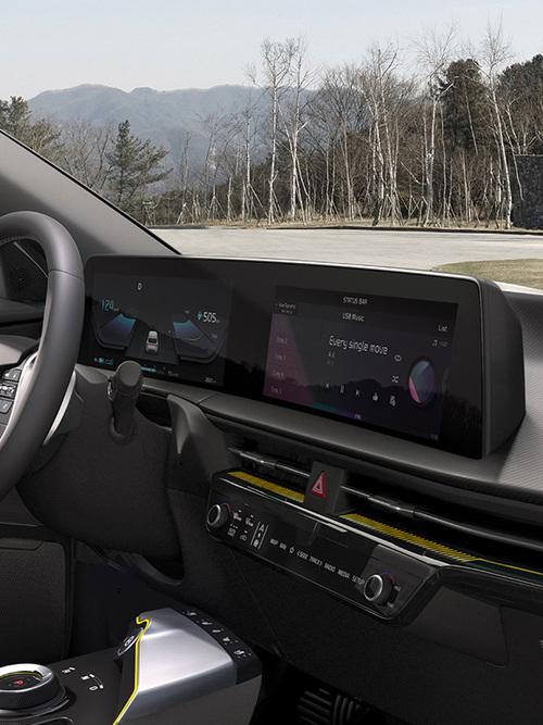 Kia EV6 gewölbtes Panoramadisplay
