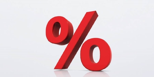 rotes Prozentzeichen Kia