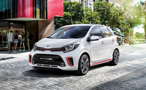 Kia Picanto in Stadt