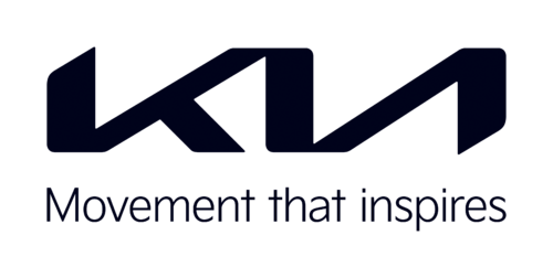 Kia Logo 2021 schwarz mit Schriftzug Movement that inspires