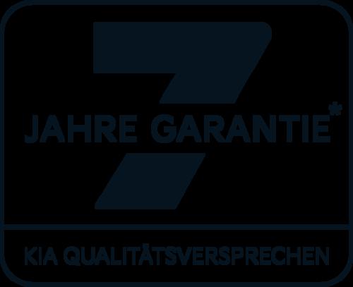 Kia Logo schwarz 7- Jahre Garantie