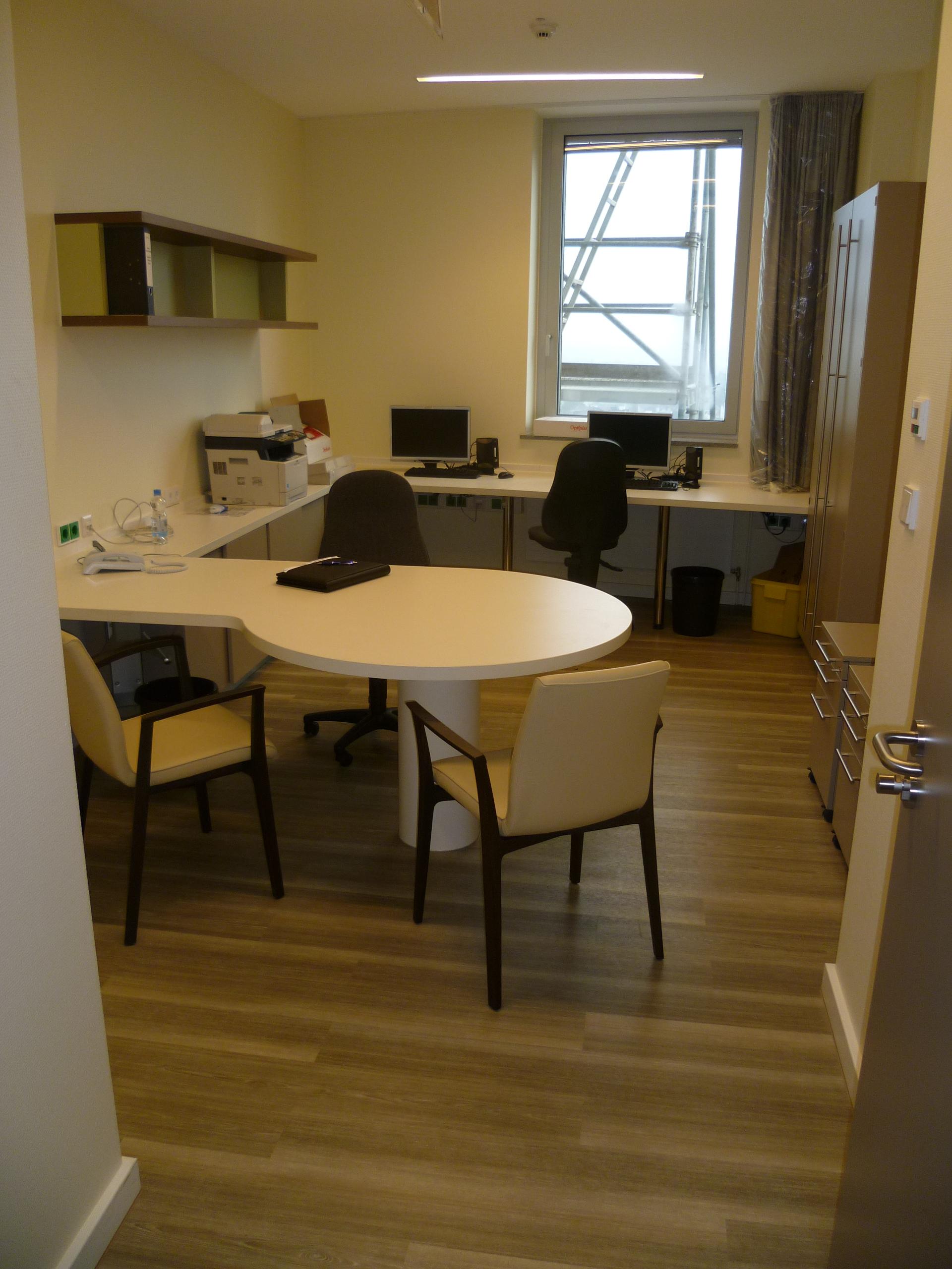 Innenansicht Büro Krankenhaus