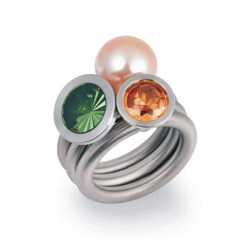 Swivel Ringkombination aus den Ringen 'No.10'+ 'Kleiner Blumentopf' + 'Boutonperle'