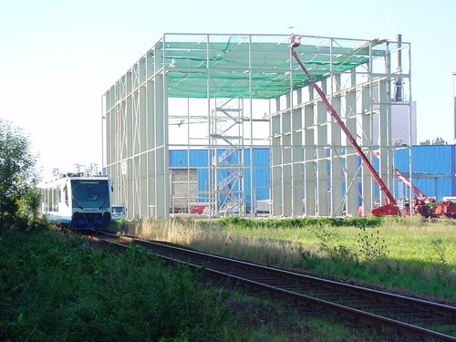 Lager für Großrollen einer Papierfabrik