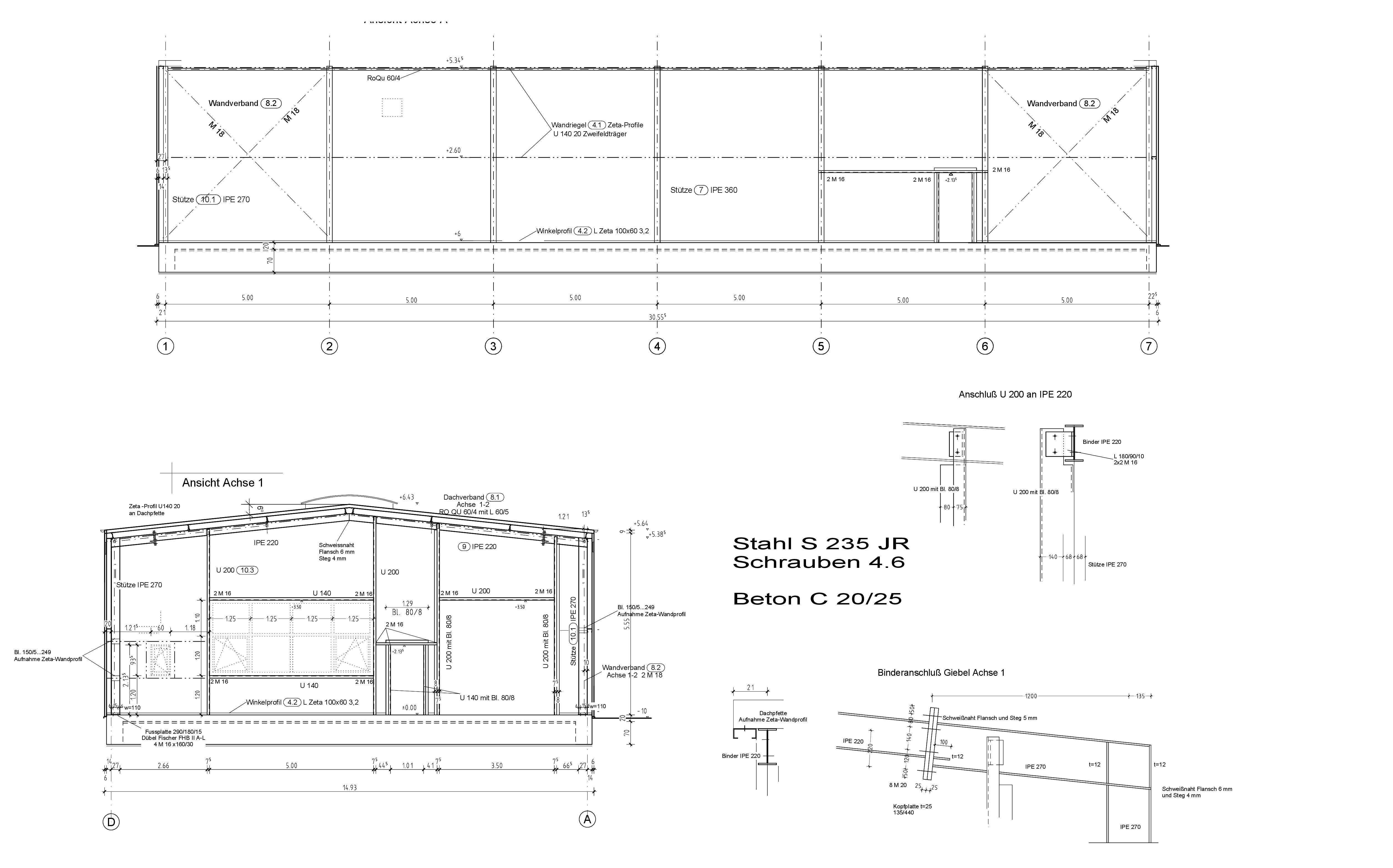 Neubau einer kleinen Gewerbehalle
