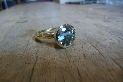 Ring Gold 750 mit Aquamarin