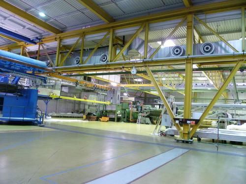 Halle zur Fabrikation von Papiermaschinenbespannungen