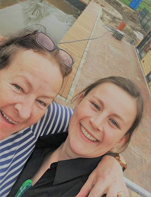 Elsbe Paulsen und Tochter